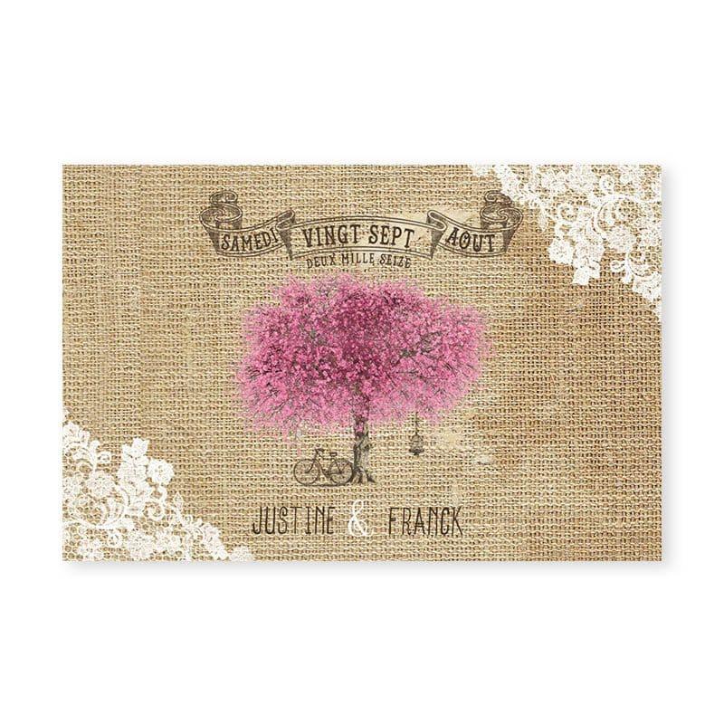 marque-place mariage arbre romantique chic cerisier en fleurs v