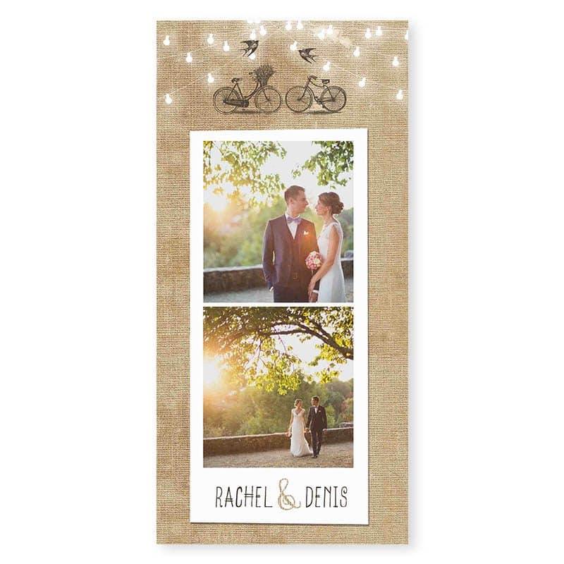 remerciements mariage arbre romantique chic cerisier en fleurs