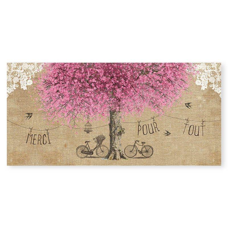 remerciements mariage arbre romantique chic cerisier en fleurs v