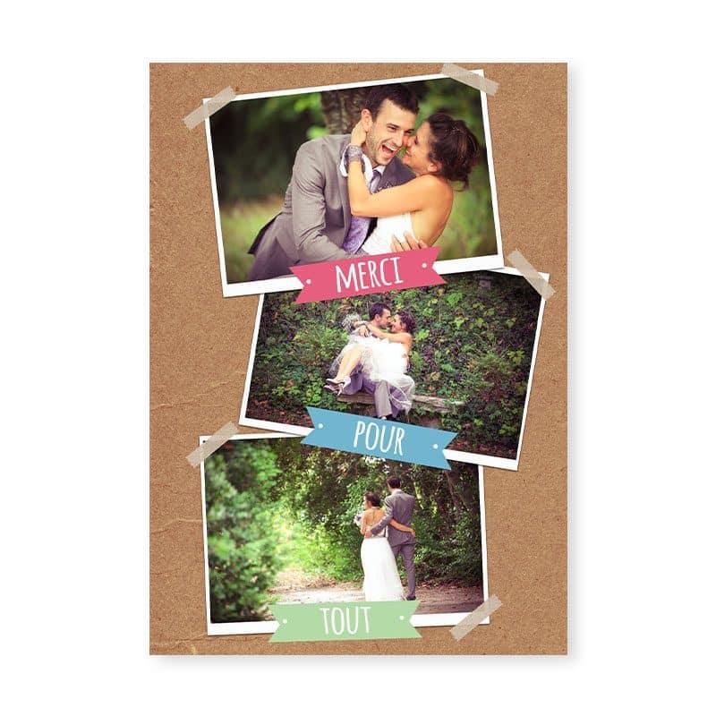 remerciements mariage guinguette chic kraft et fanions festif pastel v