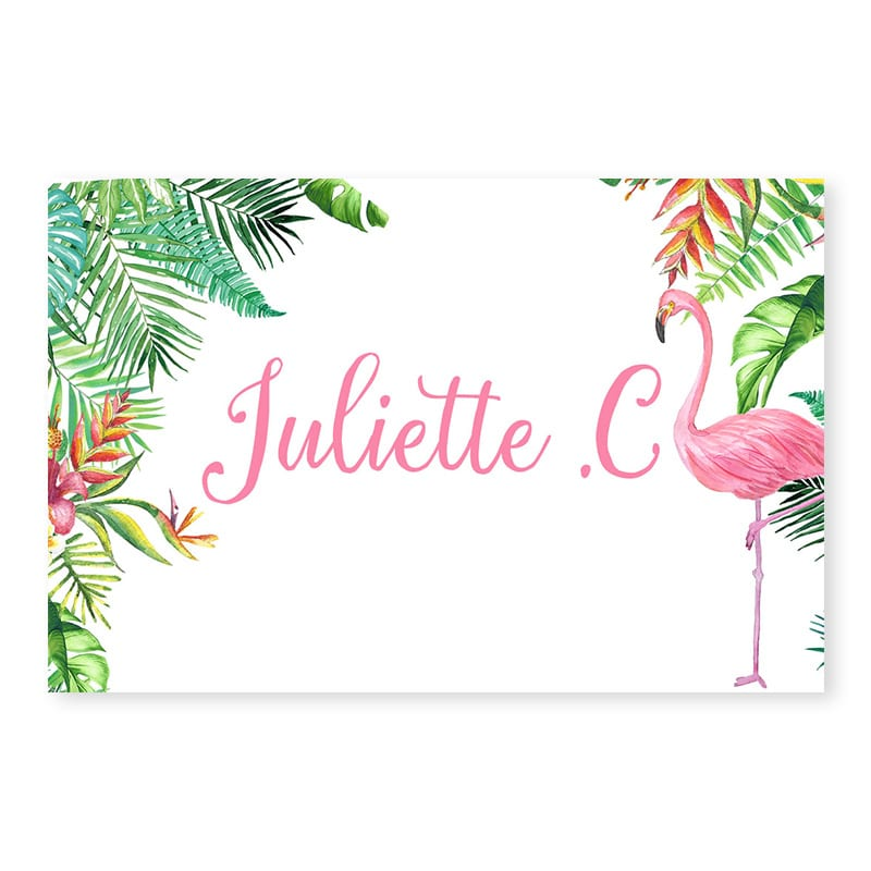 Marque Place Mariage Exotique Chic Feuillage Tropical
