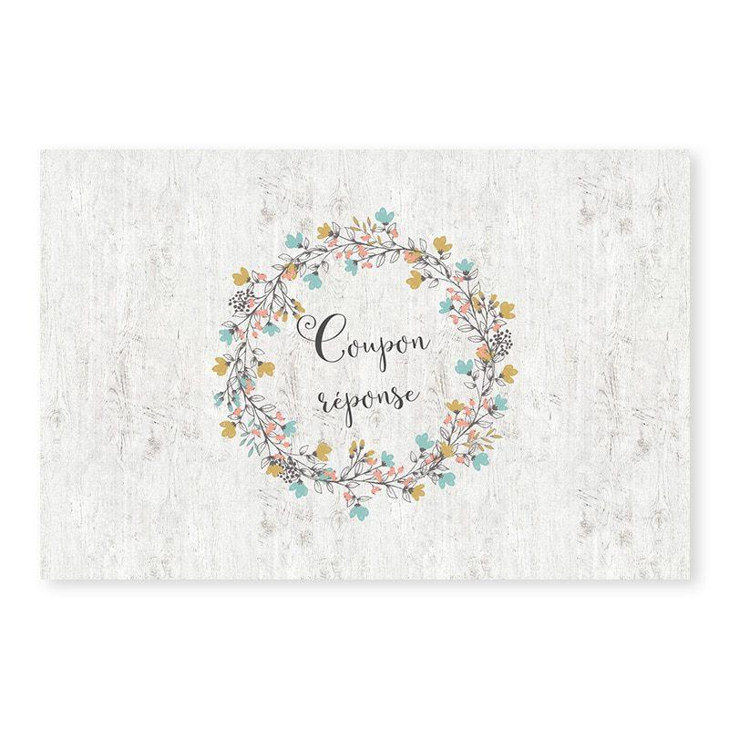 RSVP mariage Couronne de fleurs Champêtre chic v