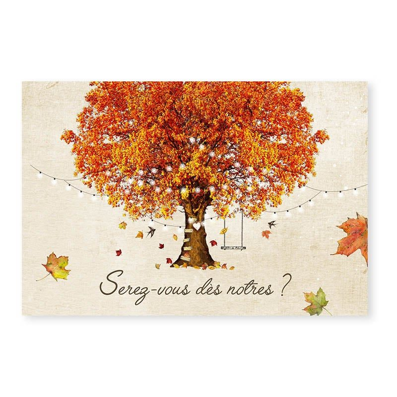 RSVP mariage automne romantique chic arbre v