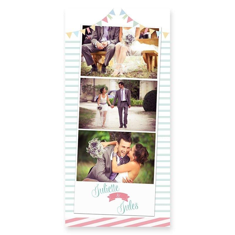Remerciements mariage guinguette pastel fanion guirlandes v copie