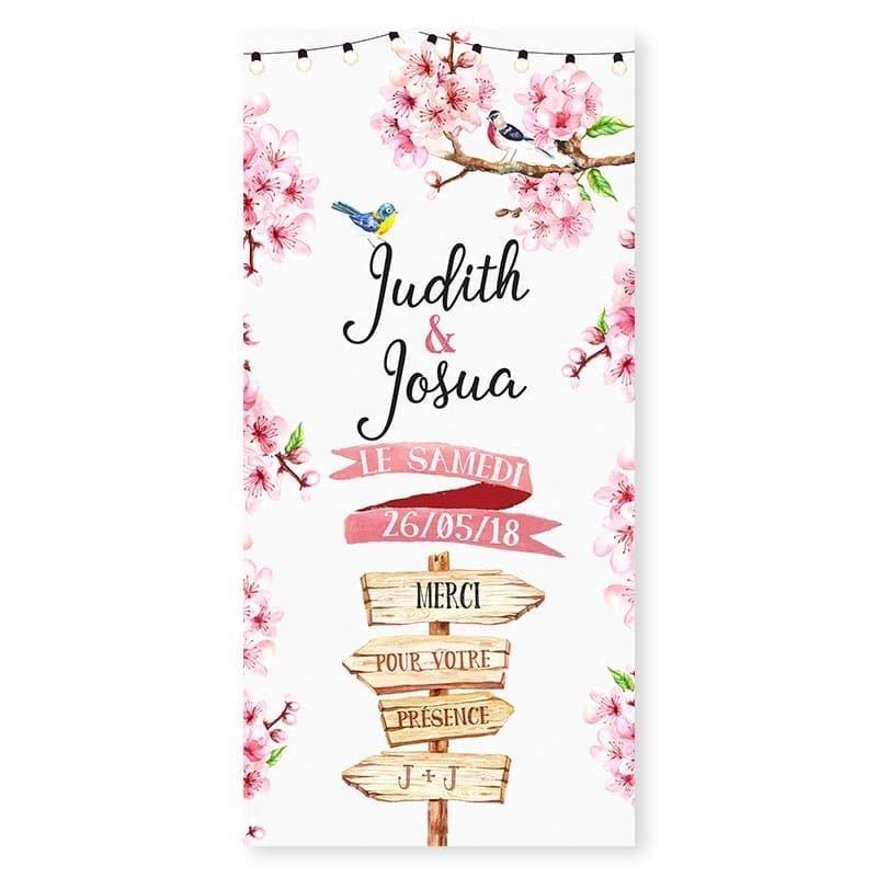 menu printemps romantique fleurs cerisier champêtre chic V