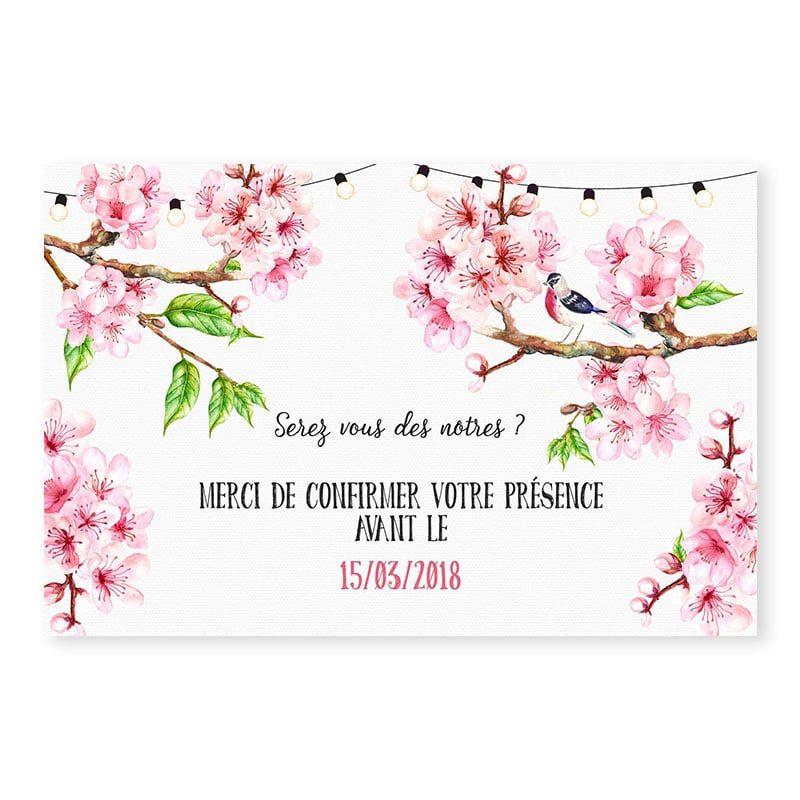 RSVP printemps romantique fleurs cerisier champêtre chic
