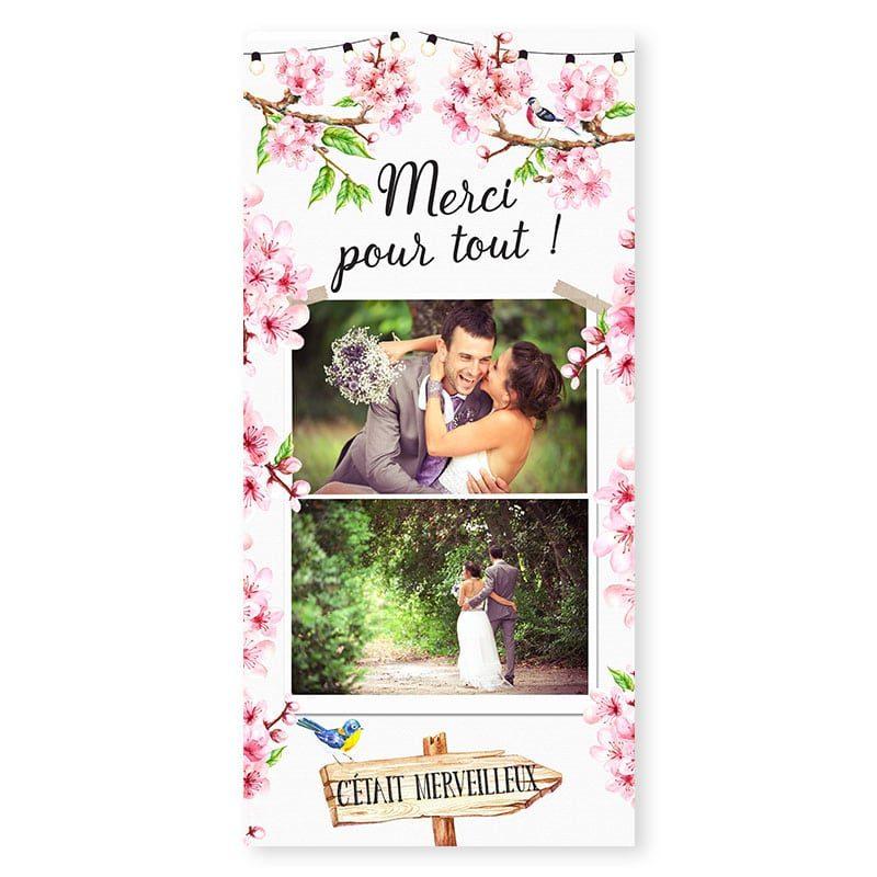 remerciements printemps romantique fleurs cerisier avec photos copie