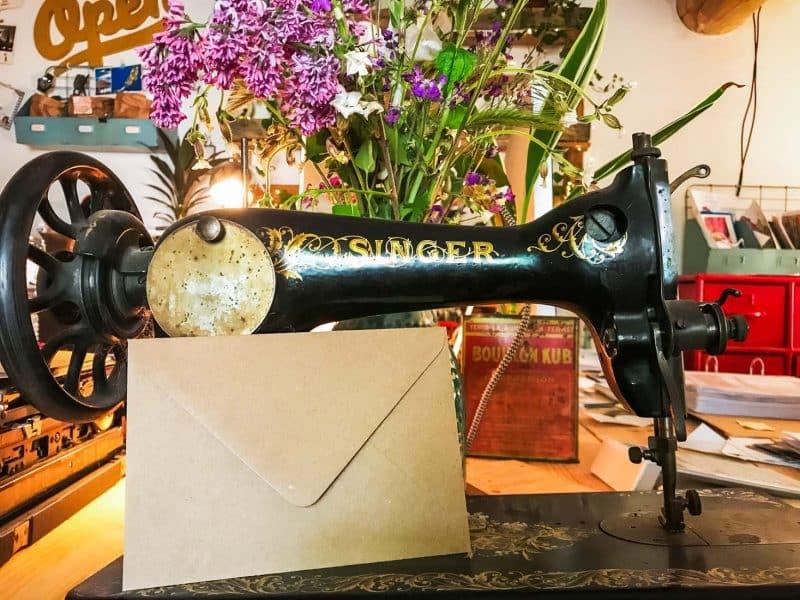 Enveloppes kraft vintage faire-part invitation c6