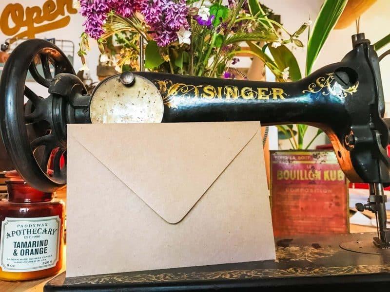 Enveloppes kraft invitations mariage naissance 125x175 Vintage rétro