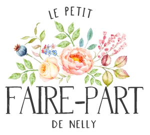 Petit faire-part de Nelly