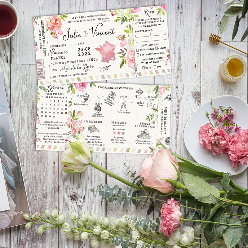 carte-embarquement-mariage-originale-fleurs-rose-wp