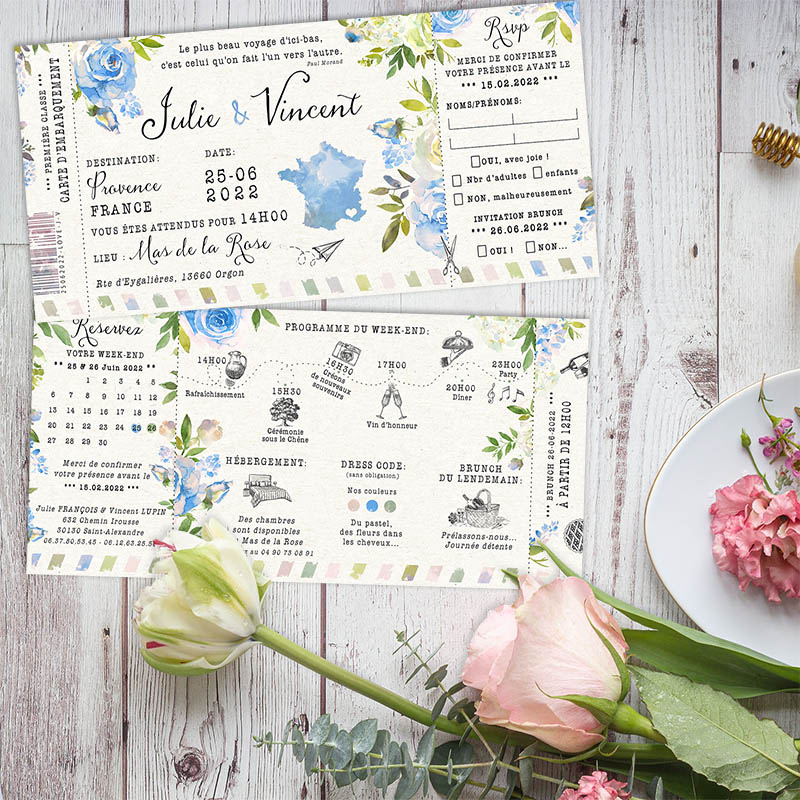 invitation-mariage-carte-embarquement-voyage-fleurs-bleu-wp